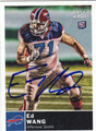 ED WANG AUTOGRAPHED FOOTBALL CARD #21212Q