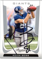 KEVIN BOSS AUTOGRAPHED FOOTBALL CARD #21212R