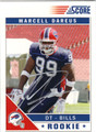 MARCELL DAREUS AUTOGRAPHED ROOKIE FOOTBALL CARD #21212T