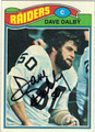 DAVE DALBY OAKLAND RAIDERS AUTOGRAPHED VINTAGE FOOTBALL CARD #21213B
