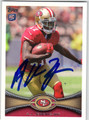 AJ JENKINS SAN FRANCISCO 49ers AUTOGRAPHED ROOKIE FOOTBALL CARD #21213i