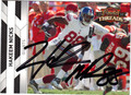 HAKEEM NICKS AUTOGRAPHED ROOKIE FOOTBALL CARD #21512B