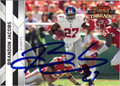 BRANDON JACOBS AUTOGRAPHED FOOTBALL CARD #21512D