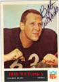 BOB WETOSKA CHICAGO BEARS AUTOGRAPHED VINTAGE FOOTBALL CARD #21513i