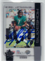 BYRON LEFTWICH JACKSONVILLE JAGUARS AUTOGRAPHED & NUMBERED FOOTBALL CARD #21613H
