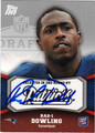 RAS-I DOWLING AUTOGRAPHED ROOKIE FOOTBALL CARD #21712F
