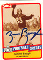 SAMMY BAUGH AUTOGRAPHED FOOTBALL CARD #21712H