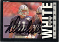 DANNY WHITE AUTOGRAPHED FOOTBALL CARD #21812C