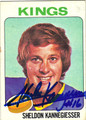 SHELDON KANNEGIESSER LOS ANGELES KINGS AUTOGRAPHED VINTAGE HOCKEY CARD #21813G