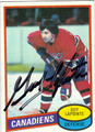 GUY LAPOINTE AUTOGRAPHED VINTAGE HOCKEY CARD #21712J