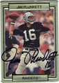 JIM PLUNKETT OAKLAND RAIDERS AUTOGRAPHED BRAILLE FOOTBALL CARD #21713G