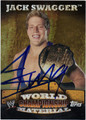 JACK SWAGGER AUTOGRAPHED WRESTLING CARD #22212Q