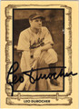 LEO DUROCHER AUTOGRAPHED VINTAGE BASEBALL CARD #22312B