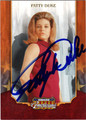 PATTY DUKE AUTOGRAPHED CARD #22112D
