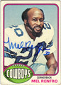 MEL RENFRO AUTOGRAPHED FOOTBALL CARD #22411G