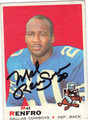 MEL RENFRO AUTOGRAPHED VINTAGE FOOTBALL CARD #22412F