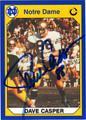 DAVE CASPER AUTOGRAPHED FOOTBALL CARD #22312V