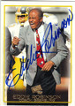 EDDIE ROBINSON GRAMBLING STATE UNIVERSITY AUTOGRAPHED FOOTBALL CARD #22413B