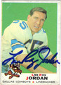 LEE ROY JORDAN AUTOGRAPHED VINTAGE FOOTBALL CARD #22512D