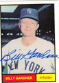 BILLY GARDNER AUTOGRAPHED BASEBALL CARD #22512H