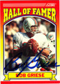 BOB GRIESE AUTOGRAPHED FOOTBALL CARD #22512A
