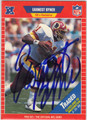 ERNEST BYNER WASHINGTON REDSKINS AUTOGRAPHED FOOTBALL CARD #22613H