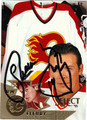THEOREN FLEURY AUTOGRAPHED HOCKEY CARD #22612N