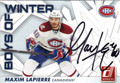 MAXIM LAPIERRE MONTREAL CANADIENS AUTOGRAPHED HOCKEY CARD #22613F