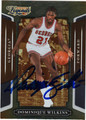 DOMINIQUE WILKINS AUTOGRAPHED BASKETBALL CARD #22712E