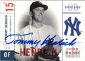 TOMMY HENRICH NEW YORK YANKEES AUTOGRAPHED BASEBALL CARD #22713G