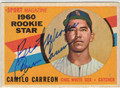 CAMILO CARREON CHICAGO WHITE SOX AUTOGRAPHED VINTAGE ROOKIE BASEBALL CARD #22813E