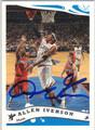 ALLEN IVERSON PHILADELPHIA 76ers AUTOGRAPHED BASKETBALL CARD #22813D