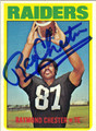 RAYMOND CHESTER OAKLAND RAIDERS AUTOGRAPHED VINTAGE FOOTBALL CARD #22813L