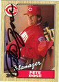 PETE ROSE AUTOGRAPHED BASEBALL CARD #22912G