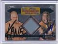 Kane & Umaga Dual Autographed Wrestling Card 2325