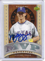 Michael Young Autographed Baseball Card 2420