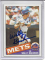 Wally Backman Autographed Baseball Card 2484