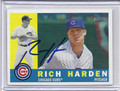 Rich Harden Autographed Baseball Card 2731