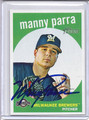 Manny Parra Autographed Baseball Card 2796