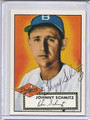 Johnny Schmitz Autographed Baseball Card 2827