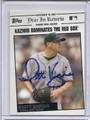 Scott Kazmir Tampa Bay Rays Autographed Baseball Card 2835