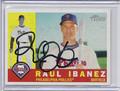 Raul Ibanez Autographed Baseball Card 2832