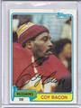 Coy Bacon Autographed Football Card 2866