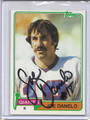 Joe Danelo Autographed Football Card 2896
