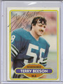 Terry Beeson Autographed Football Card 2933