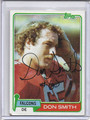 Don Smith Autographed Football Card 2869