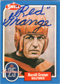 RED GRANGE AUTOGRAPHED FOOTBALL CARD #30212C