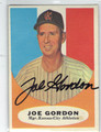 JOE GORDON KANSAS CITY ATHLETICS AUTOGRAPHED VINTAGE BASEBALL CARD #30213D