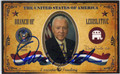 ORRIN HATCH REPUBLICAN UTAH SENATOR AUTOGRAPHED CARD #30213E