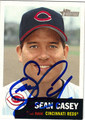 SEAN CASEY AUTOGRAPHED BASEBALL CARD #30312N